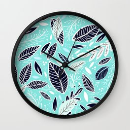 Teal Nature Walk Wall Clock