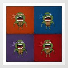 Screaming Turtles Art Print