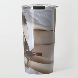Girl with camara Travel Mug