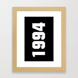 1994 justin bieber's date of birth (black) Framed Art Print