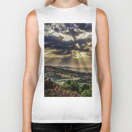 Landscape photograph of, Sunshine over Hope valley, Peak District, U.K. Biker Tank
