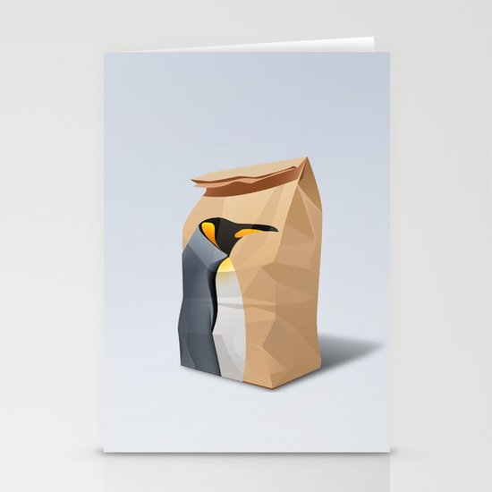 King Penguin Stationery Cards