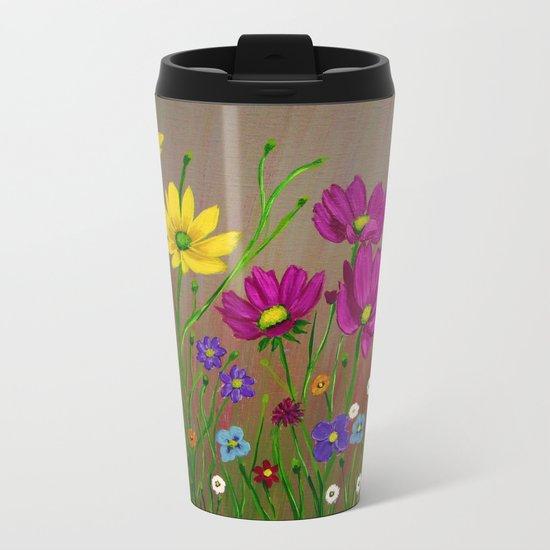 Spring Wild flowers  Metal Travel Mug