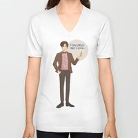 doctor who V-neck T-shirts featuring Doctor Who by Pulvis