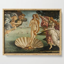 Birth Of Venus Sandro Botticelli Nascita di Venere Serving Tray