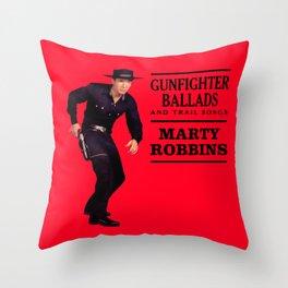 Marty Robbins - Gunfighter Ballads Throw Pillow