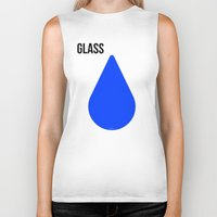 glass Biker Tanks featuring GLASS by try2benice