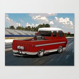 1963 #Ford #Econoline #HotRod Van/Truck (sketch) style Canvas Print