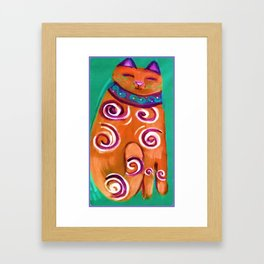 Cat Contemporary Framed Art Print
