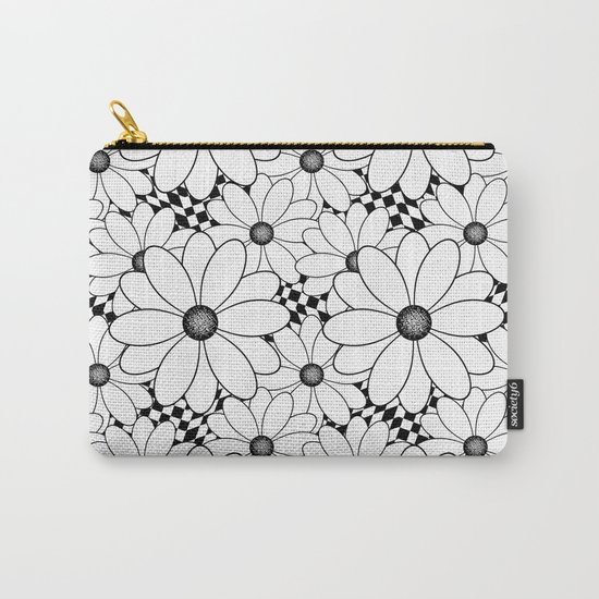 Cute black and white daisies. Carry-All Pouch