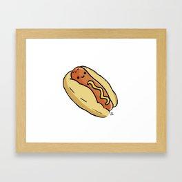 Happy Hotdog Framed Art Print