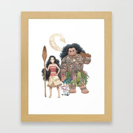 Moana (Fan Art) Framed Art Print