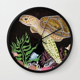 Sea Turtle, Reef Fish Wall Clock