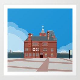 Cardiff Pierhead Building Three Art Print