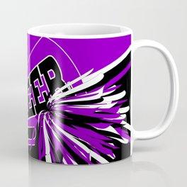 Purple, Black and White Cheerleader Design Coffee Mug