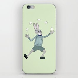 Joggling bunny iPhone Skin