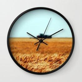 Golden Crop Wall Clock