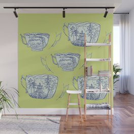 Pattern Design, cup landscape Wall Mural