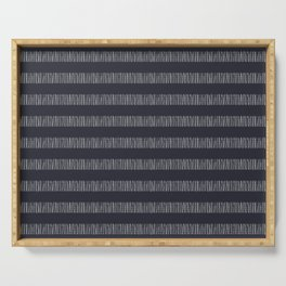 stripes texture-midnight Serving Tray