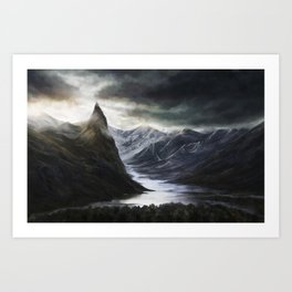 Ominous Mountains Art Print