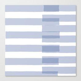 Big Stripes in Light Blue Canvas Print