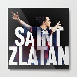 Saint Zlatan Metal Print