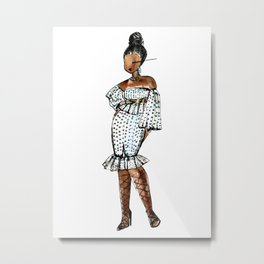 BIRTHDAY SLAY (White Background) Metal Print