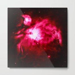 Magenta Pink Orion NebULA : Hauntingly Beautiful Space Metal Print