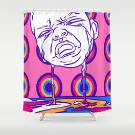 Crying baby Shower Curtain