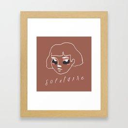 solitaire Framed Art Print