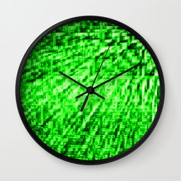 Green Pixel Wind Wall Clock