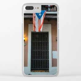 The flag of Puerto Rico Clear iPhone Case