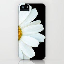 Hello Daisy - White Flower Black Background #decor #society6 #buyart iPhone Case