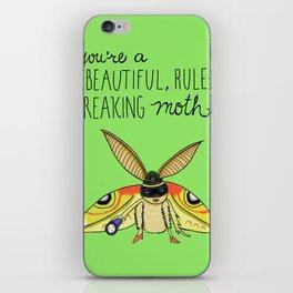 Leslie Knope Compliments: Rule-Breaking Moth iPhone Skin