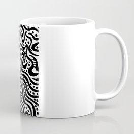 Abstract 041211 - Black on White Coffee Mug