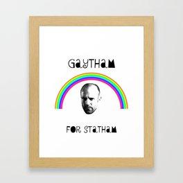 Gaytham For Statham Framed Art Print