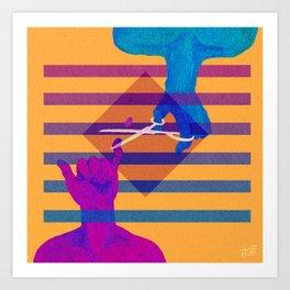 Pinkie Cutter Art Print