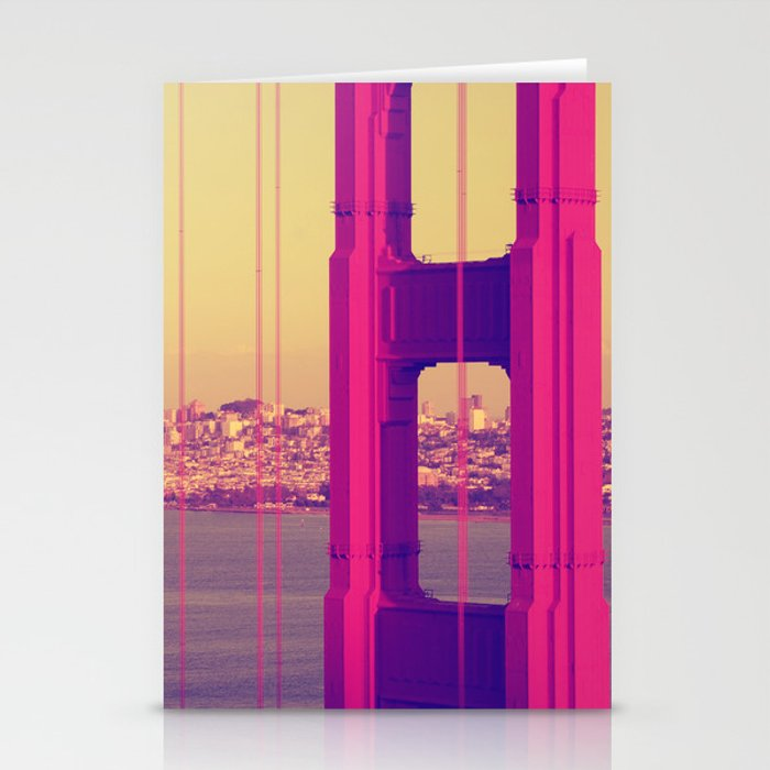 Golden Gate Into San Francisco Stationery Cards