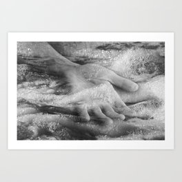 Hand Water Calm Art Print