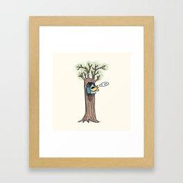 Rude Bird Framed Art Print