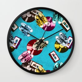 Retro music pattern Wall Clock