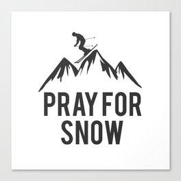 ski snow winter gift skiing winter sports skier Canvas Print