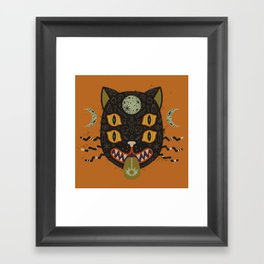 Spooky Cat Framed Art Print