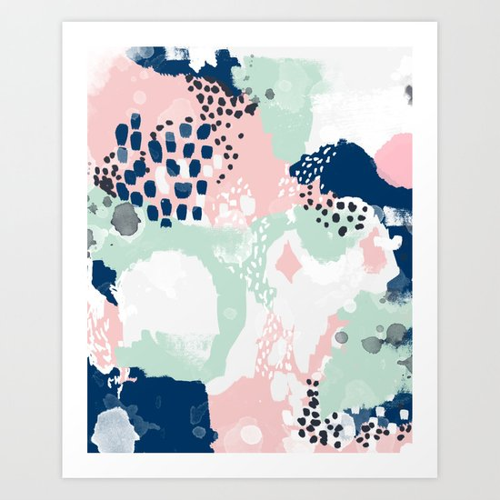 Kimmie - abstract painting modern hipster trendy urban city painterly boho home college dorm decor  Art Print
