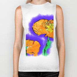 The Orange Poppy Pair Biker Tank