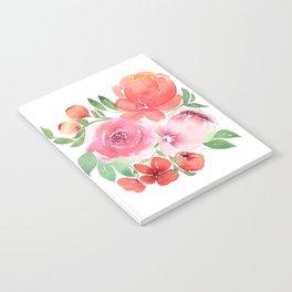 Peach Peonies Notebook