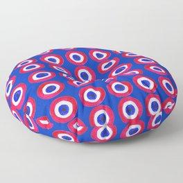 Donut Evil Eye Amulet Talisman - red on blue doughnut Floor Pillow