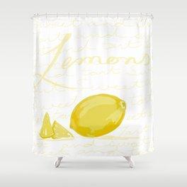 Tart as a lemon Shower Curtain