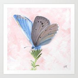 Blue and Purple Butterfly Art Art Print
