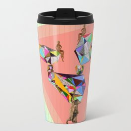 Behind every great man there are women to keep him balanced Travel Mug